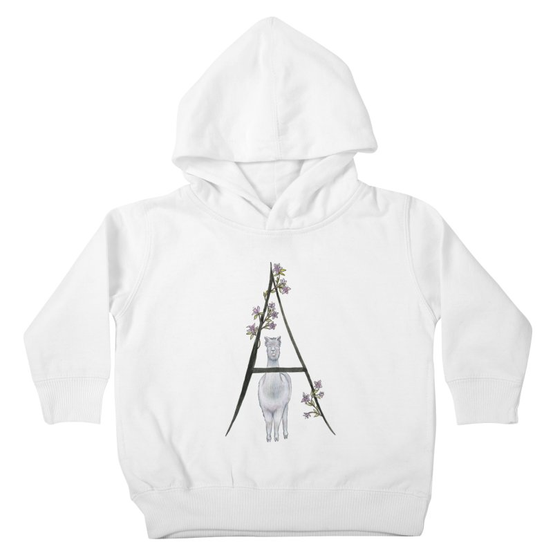 A is for Alpaca and Azalea Kids Toddler Pullover Hoody by FoxandCrow's Artist Shop