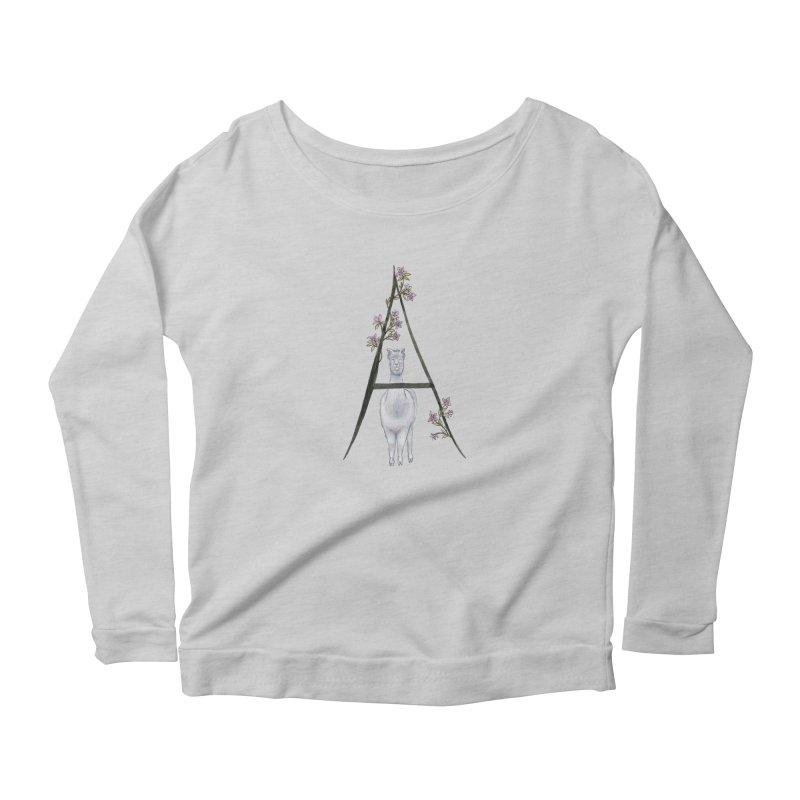 A is for Alpaca and Azalea Women's Longsleeve T-Shirt by FoxandCrow's Artist Shop