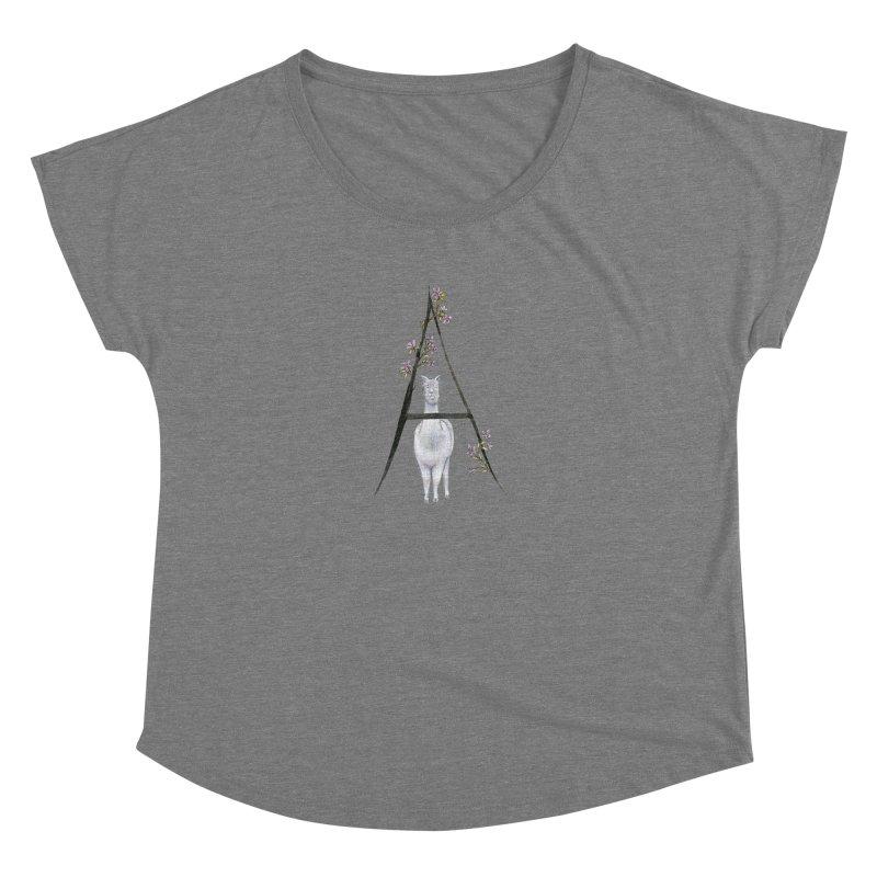 A is for Alpaca and Azalea Women's Scoop Neck by FoxandCrow's Artist Shop