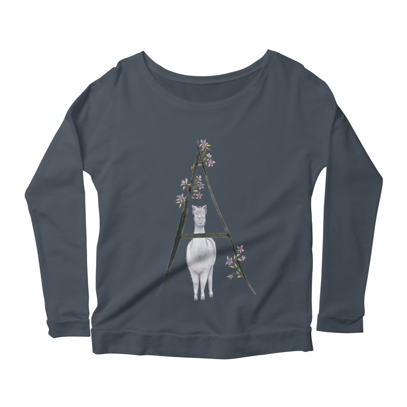A is for Alpaca and Azalea Women's Scoop Neck Longsleeve T-Shirt by FoxandCrow's Artist Shop