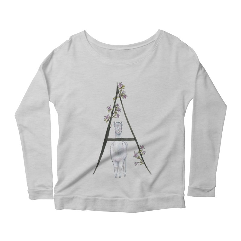 A is for Alpaca and Azalea Women's Longsleeve T-Shirt by FoxandCrow's Artist Shop