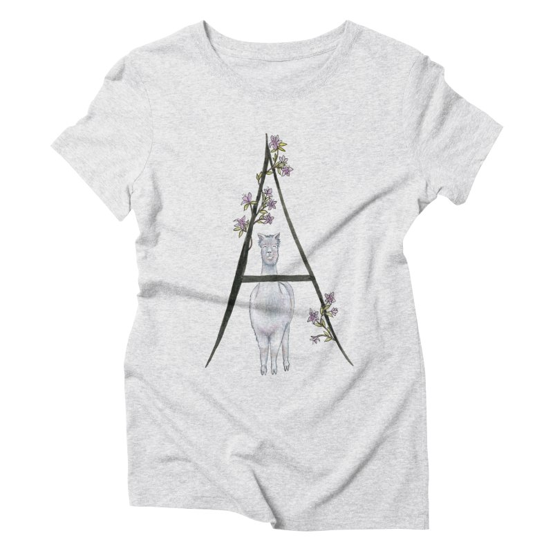 A is for Alpaca and Azalea Women's Triblend T-Shirt by FoxandCrow's Artist Shop