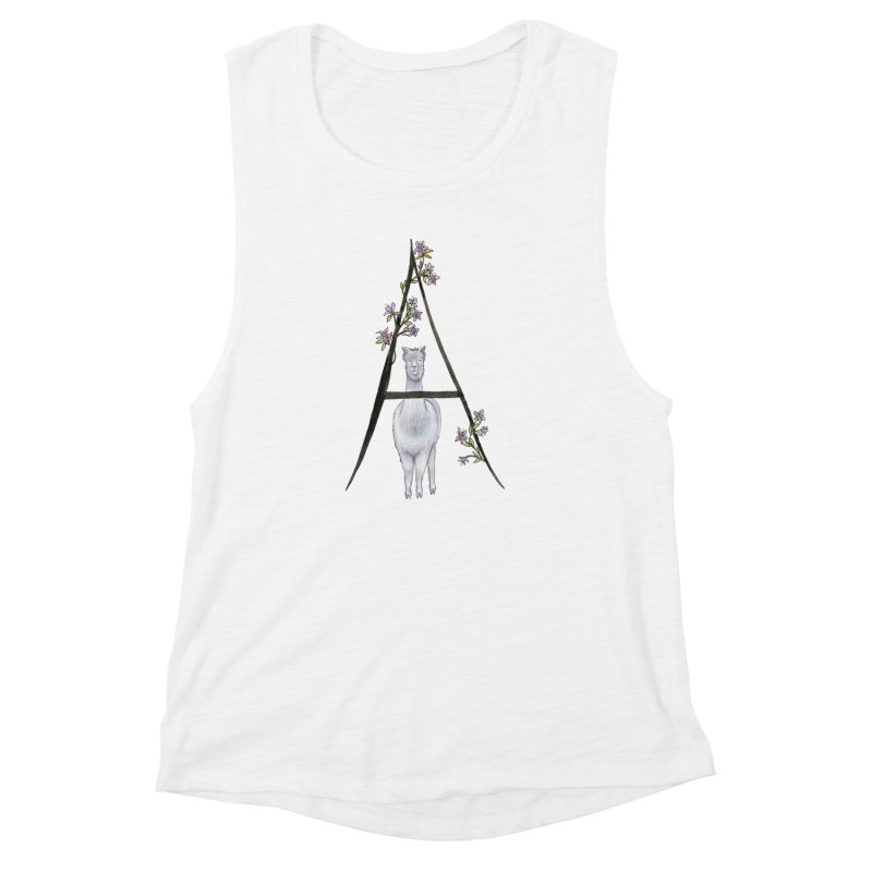 A is for Alpaca and Azalea Women's Muscle Tank by FoxandCrow's Artist Shop