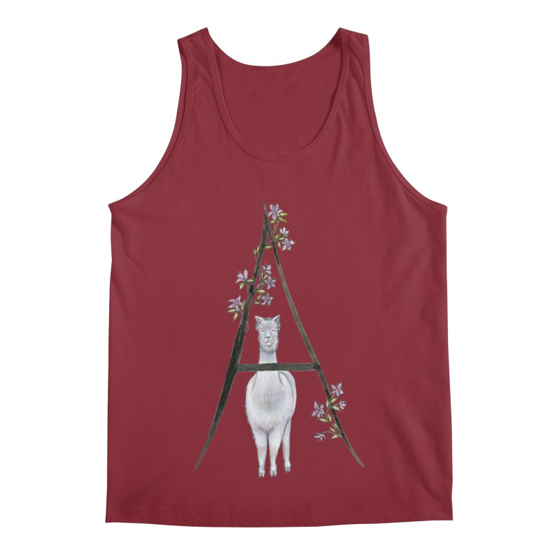 A is for Alpaca and Azalea Men's Regular Tank by FoxandCrow's Artist Shop