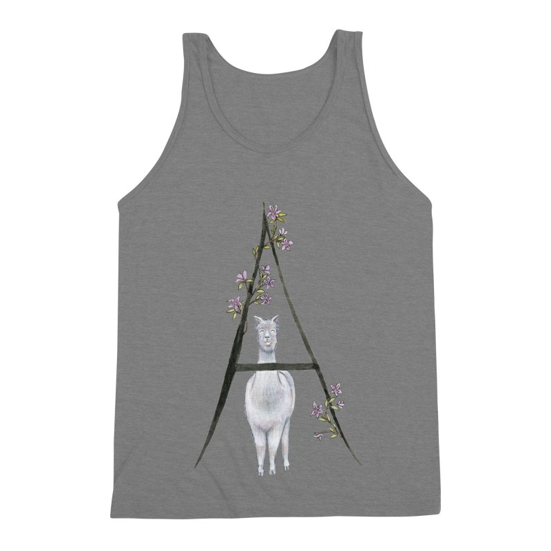 A is for Alpaca and Azalea Men's Triblend Tank by FoxandCrow's Artist Shop