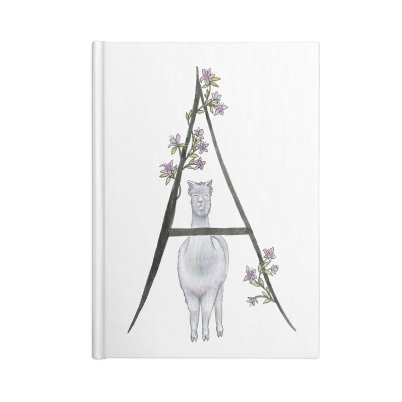 A is for Alpaca and Azalea Accessories Blank Journal Notebook by FoxandCrow's Artist Shop
