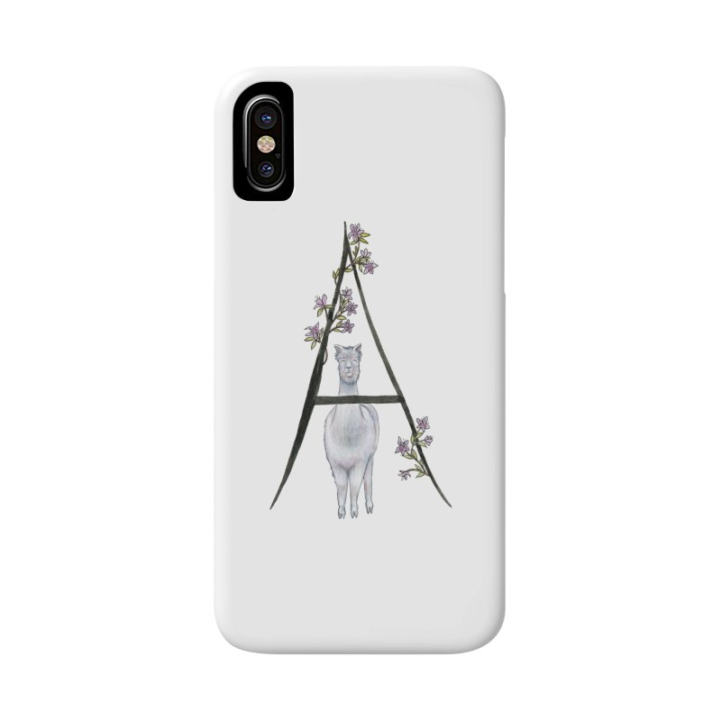 A is for Alpaca and Azalea Accessories Phone Case by FoxandCrow's Artist Shop