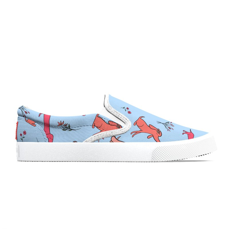 Pink Doggies and Flowers Men's Shoes by FoxandCrow's Artist Shop