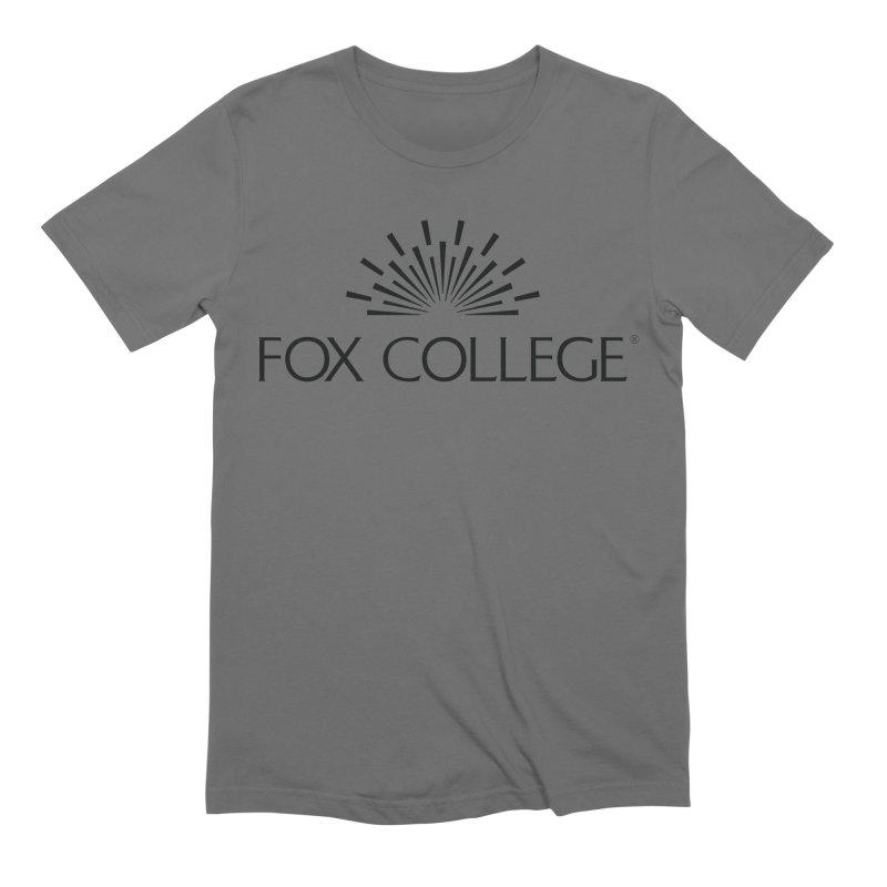 Fox College - (Black Variation) Men's T-Shirt by OFFICIAL FOX COLLEGE SPIRIT STORE