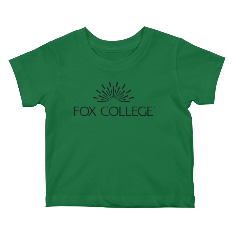 Fox College - (Black Variation) Kids Baby T-Shirt by OFFICIAL FOX COLLEGE SPIRIT STORE