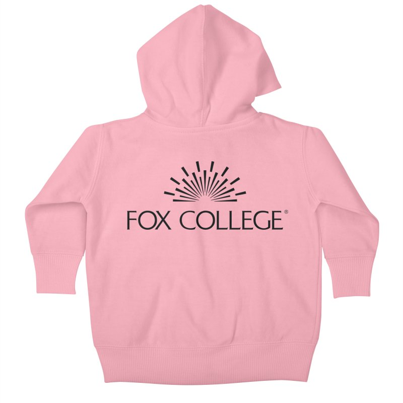 Fox College - (Black Variation) Kids Baby Zip-Up Hoody by OFFICIAL FOX COLLEGE SPIRIT STORE