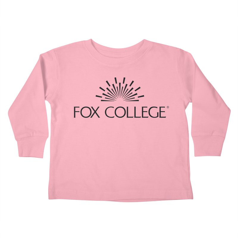 Fox College - (Black Variation) Kids Toddler Longsleeve T-Shirt by OFFICIAL FOX COLLEGE SPIRIT STORE