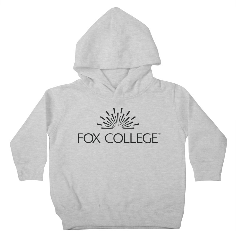 Fox College - (Black Variation) Kids Toddler Pullover Hoody by OFFICIAL FOX COLLEGE SPIRIT STORE