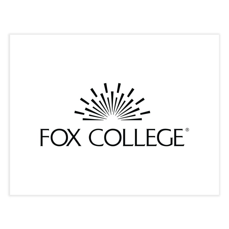 Fox College - (Black Variation) Home Fine Art Print by OFFICIAL FOX COLLEGE SPIRIT STORE