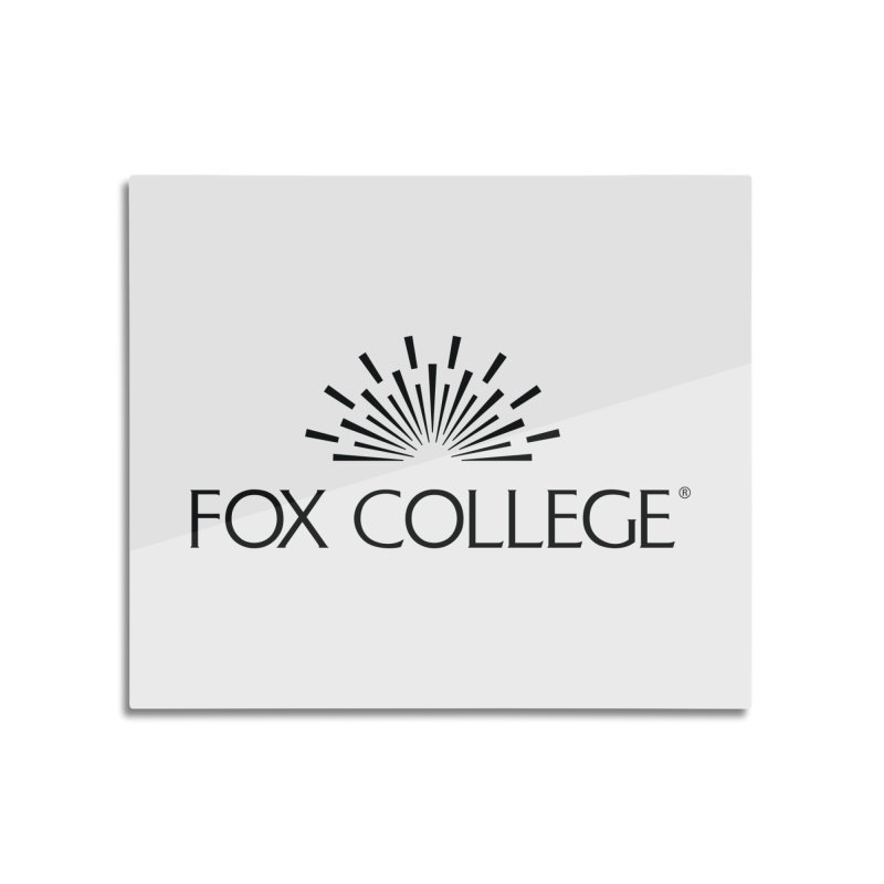 Fox College - (Black Variation) Home Mounted Acrylic Print by OFFICIAL FOX COLLEGE SPIRIT STORE