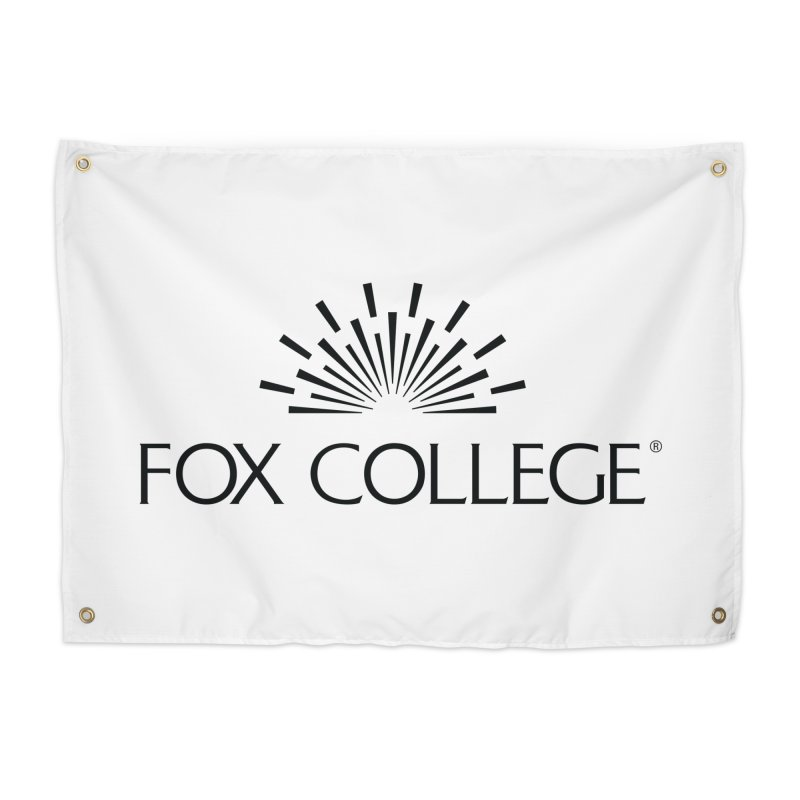 Fox College - (Black Variation) Home Tapestry by OFFICIAL FOX COLLEGE SPIRIT STORE
