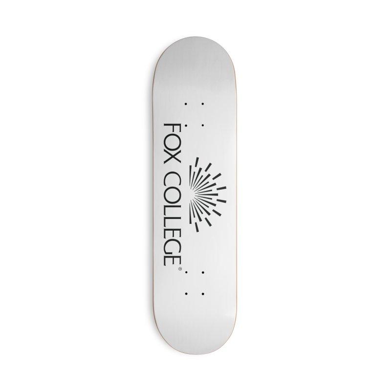 Fox College - (Black Variation) Accessories Skateboard by OFFICIAL FOX COLLEGE SPIRIT STORE
