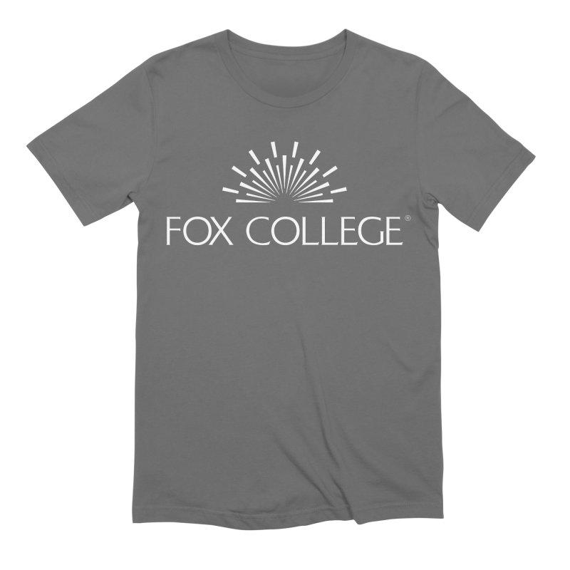 Fox College (White Variation) Men's T-Shirt by OFFICIAL FOX COLLEGE SPIRIT STORE