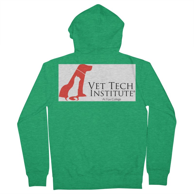 VTI- (White Variation) Men's Zip-Up Hoody by OFFICIAL FOX COLLEGE SPIRIT STORE