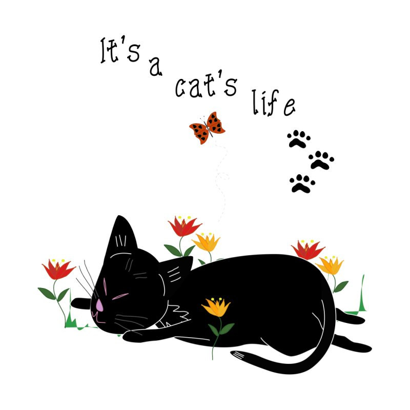 It's a cat's life by Frankie and Harry's Bookshelf Artist Shop