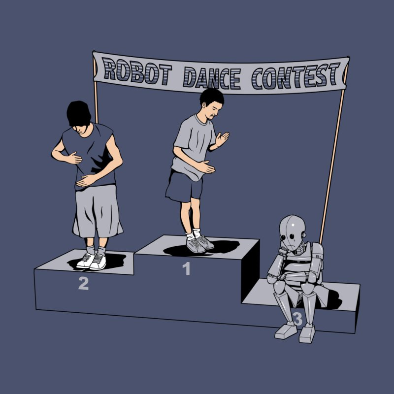 Robot Dance Contest Women's Fitted T-Shirt by Frankplastic's Artist Shop