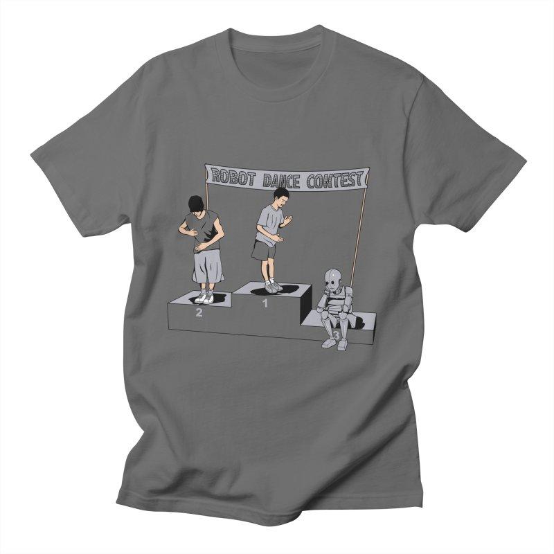 Robot Dance Contest Men's T-Shirt by Frankplastic's Artist Shop