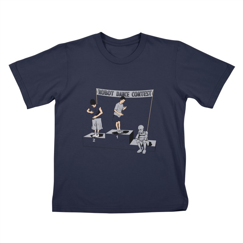 Robot Dance Contest Kids T-Shirt by Frankplastic's Artist Shop