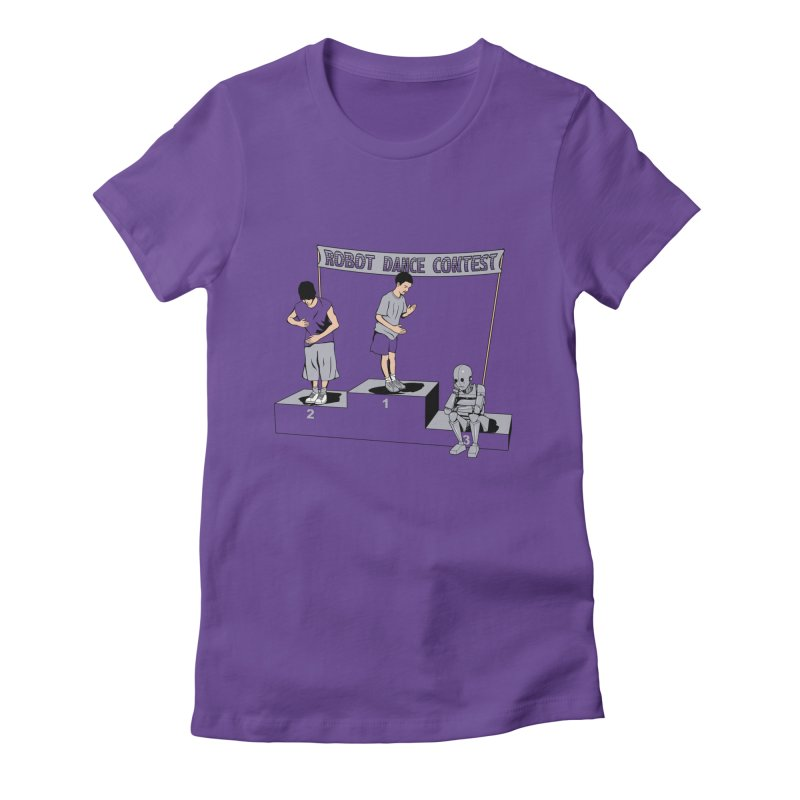 Robot Dance Contest Women's T-Shirt by Frankplastic's Artist Shop