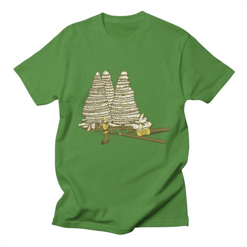Pencil Forest Men's T-shirt by Frankplastic's Artist Shop