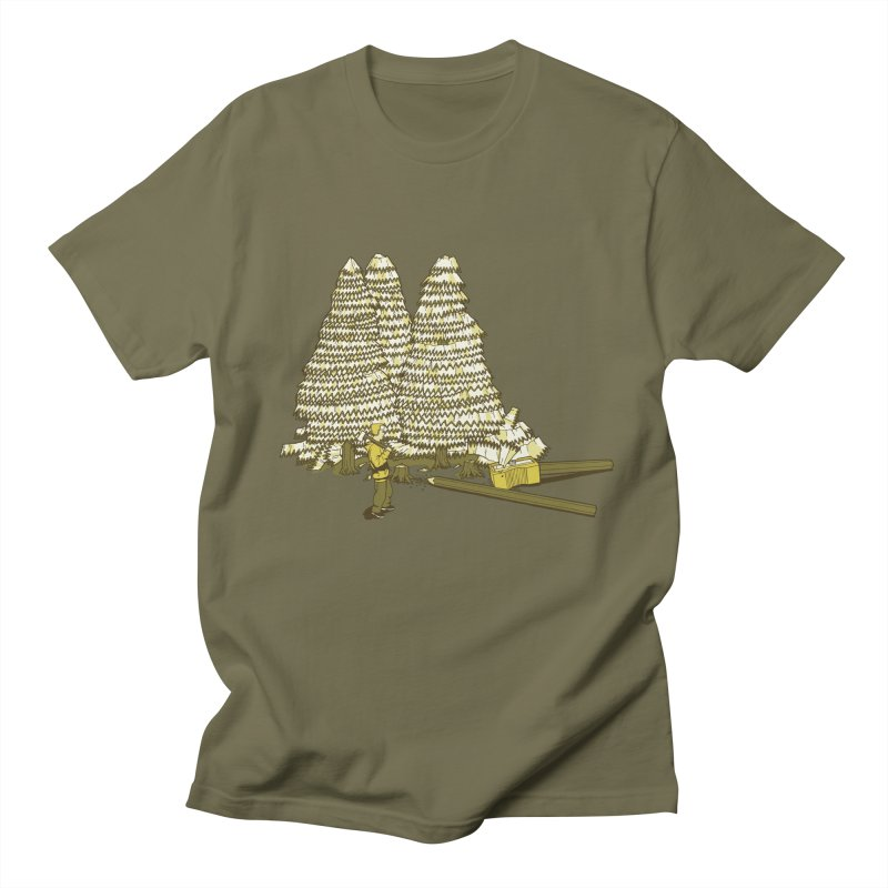 Pencil Forest Men's T-Shirt by Frankplastic's Artist Shop