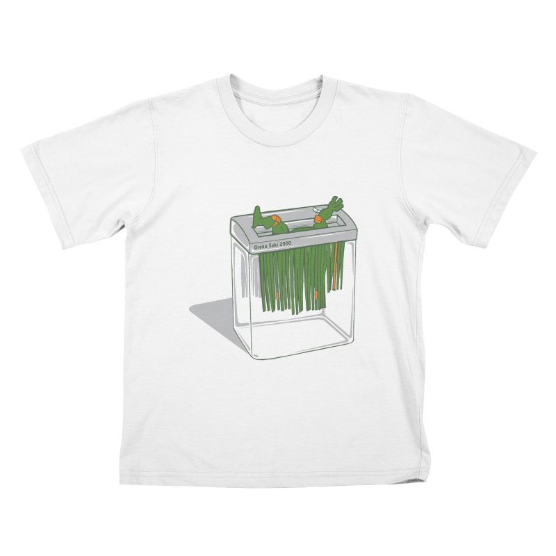 Shredder Got To Michelangelo Kids T-Shirt by Frankplastic's Artist Shop
