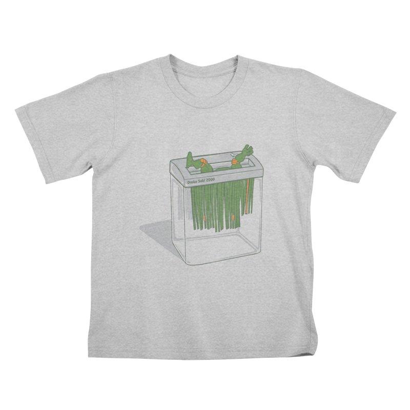 Shredder Got To Michelangelo Kids T-Shirt by Frankplastic's Artist Shop