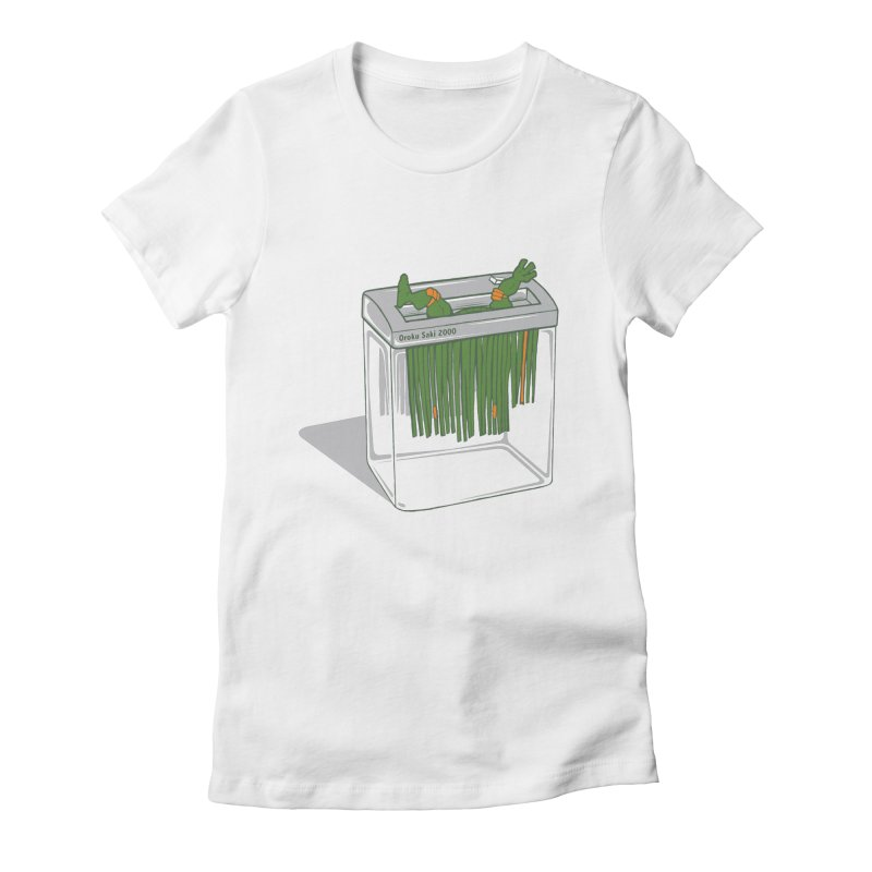 Shredder Got To Michelangelo Women's Fitted T-Shirt by Frankplastic's Artist Shop