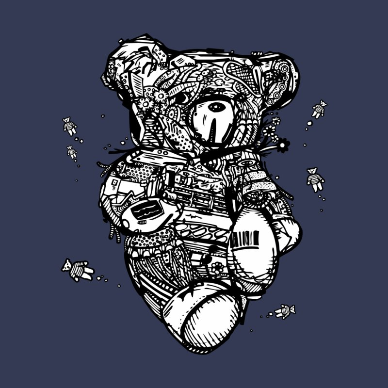 Teddy Bubbles Men's T-Shirt by Frankplastic's Artist Shop
