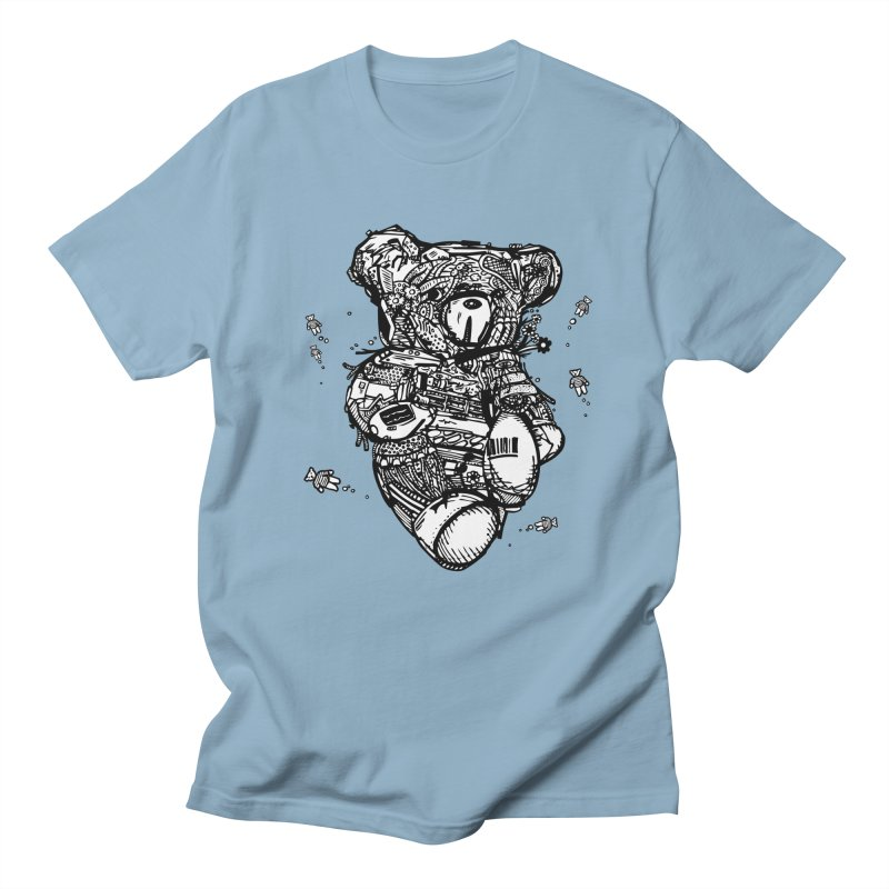 Teddy Bubbles Men's T-Shirt by Frankplastic's Artist Shop