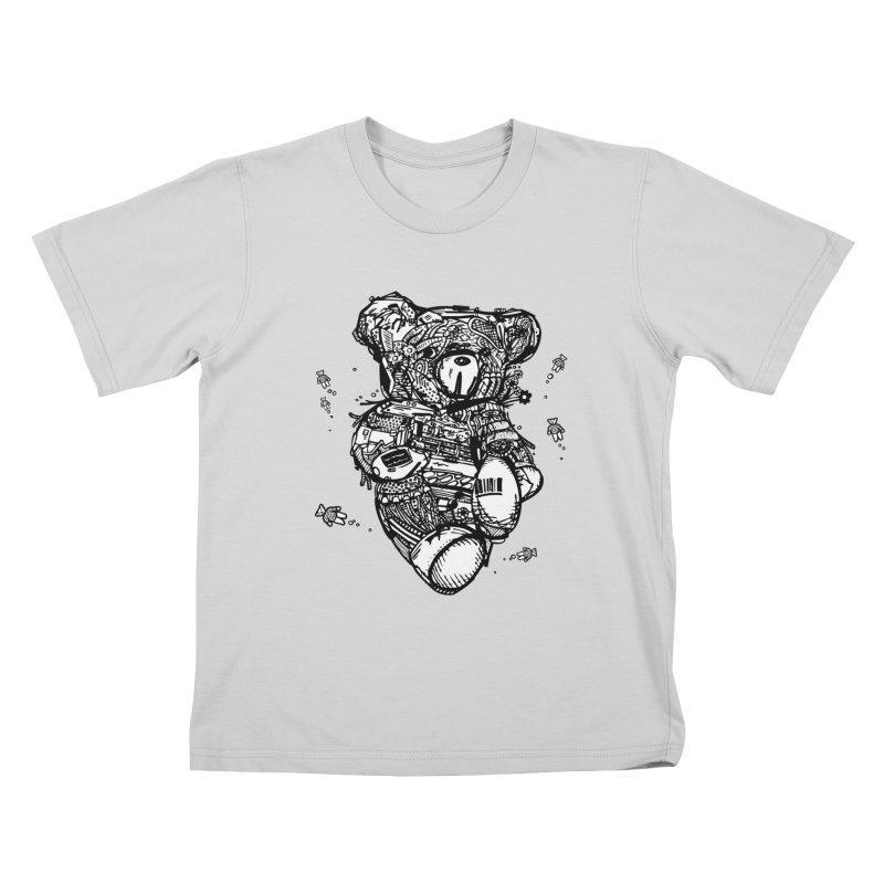 Teddy Bubbles Kids T-Shirt by Frankplastic's Artist Shop