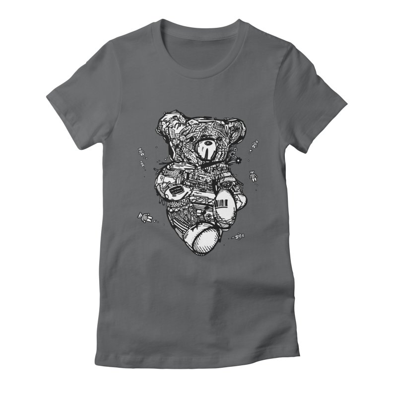 Teddy Bubbles Women's Fitted T-Shirt by Frankplastic's Artist Shop