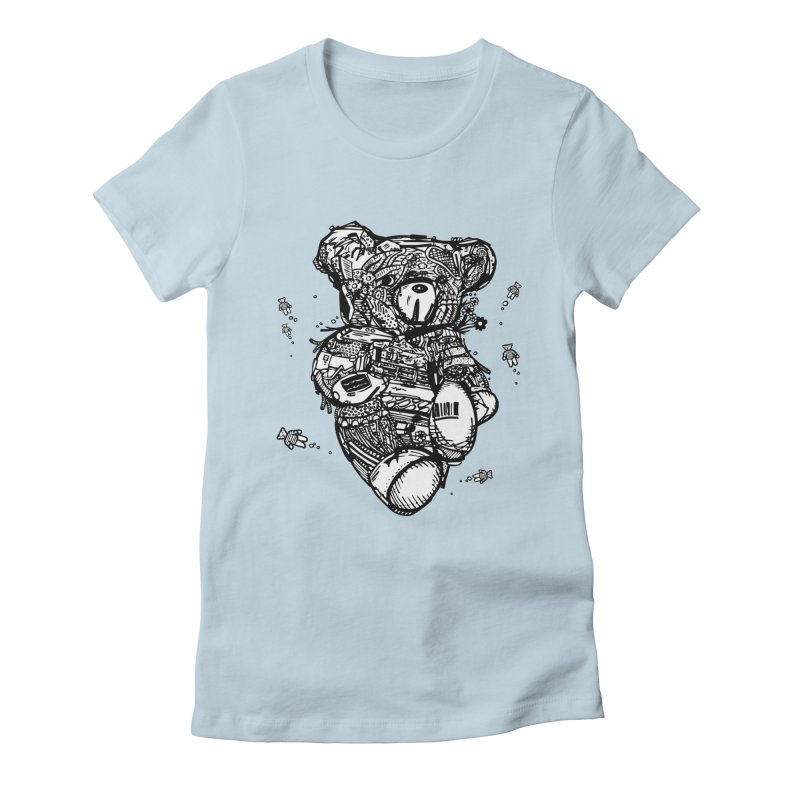 Teddy Bubbles Women's T-Shirt by Frankplastic's Artist Shop