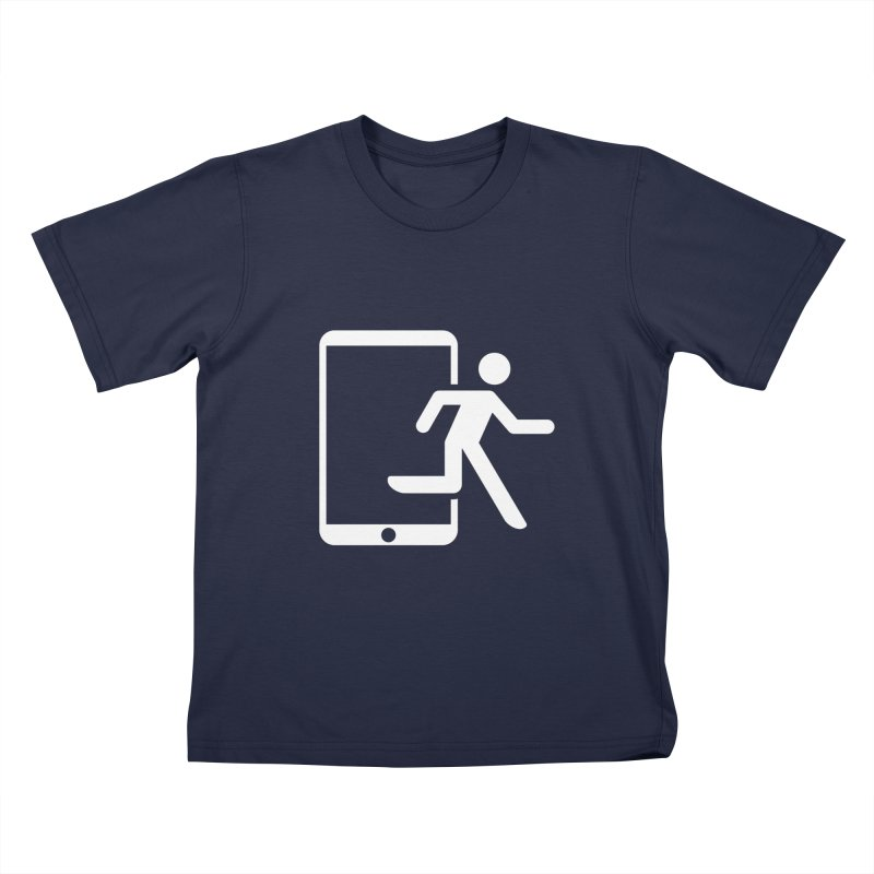 Device Escape Kids T-Shirt by Frankplastic's Artist Shop