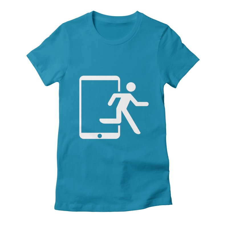 Device Escape Women's Fitted T-Shirt by Frankplastic's Artist Shop