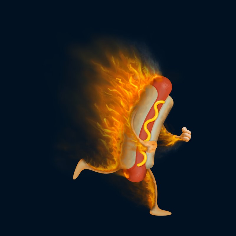 Flamin' Hot Dog None  by Frankplastic's Artist Shop