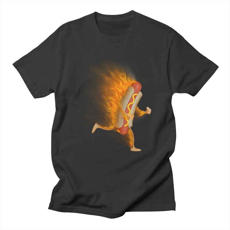 Flamin' Hot Dog Men's T-Shirt by Frankplastic's Artist Shop