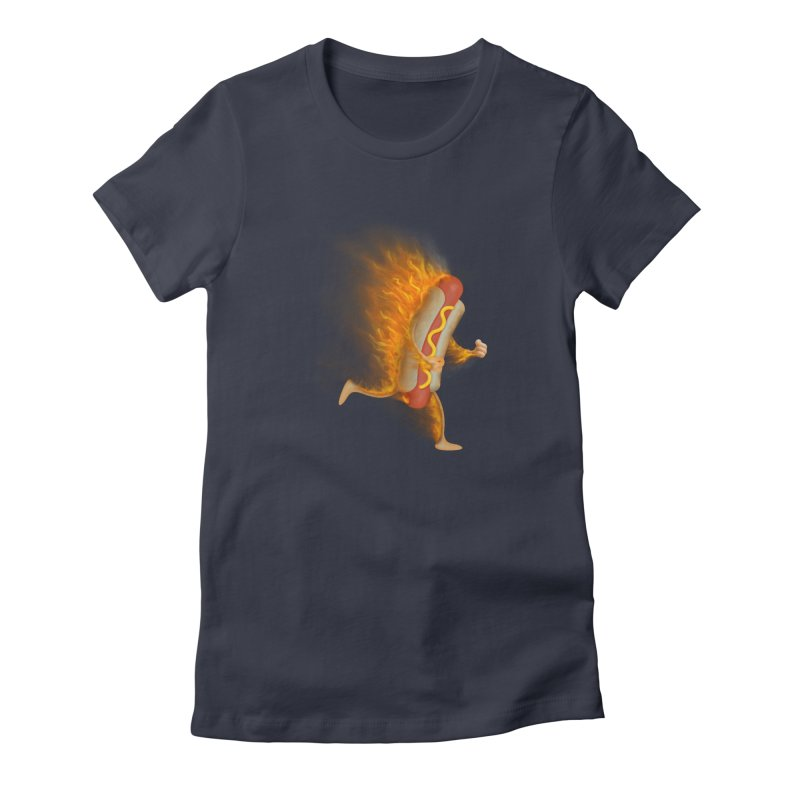 Flamin' Hot Dog Women's T-Shirt by Frankplastic's Artist Shop