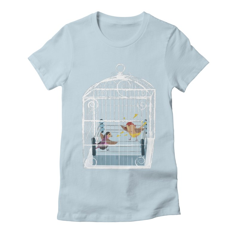 Classic Cage Fight Women's Fitted T-Shirt by Frankplastic's Artist Shop