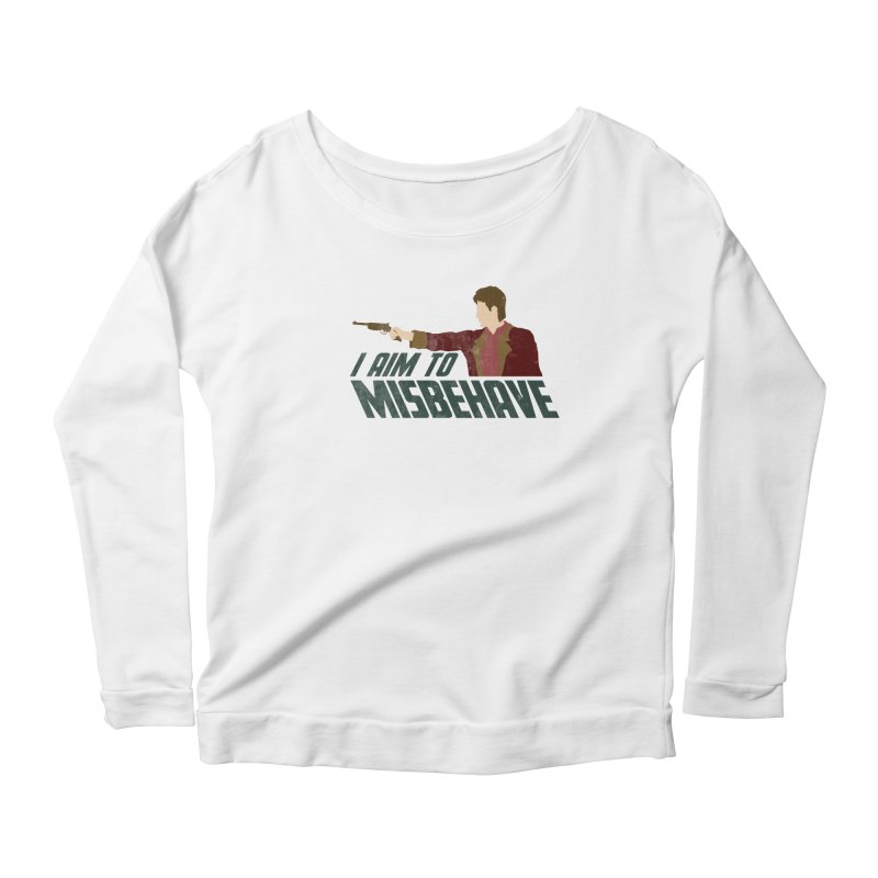 I Aim To Women's Longsleeve Scoopneck  by Fredtee's Artist Shop