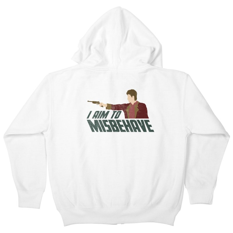 I Aim To Kids Zip-Up Hoody by Fredtee's Artist Shop