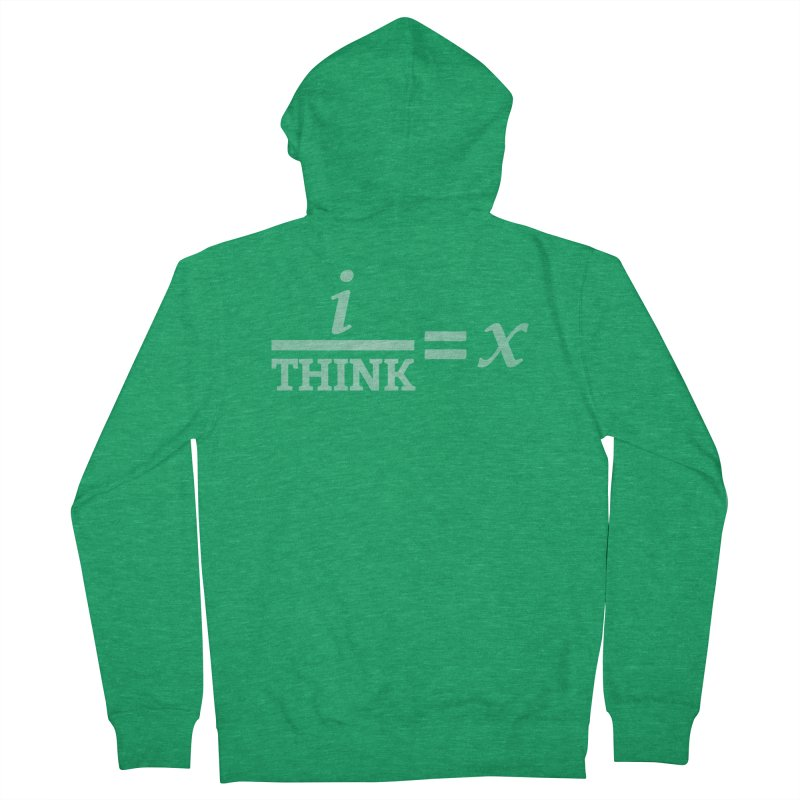 i/Think Men's Zip-Up Hoody by Fredtee's Artist Shop