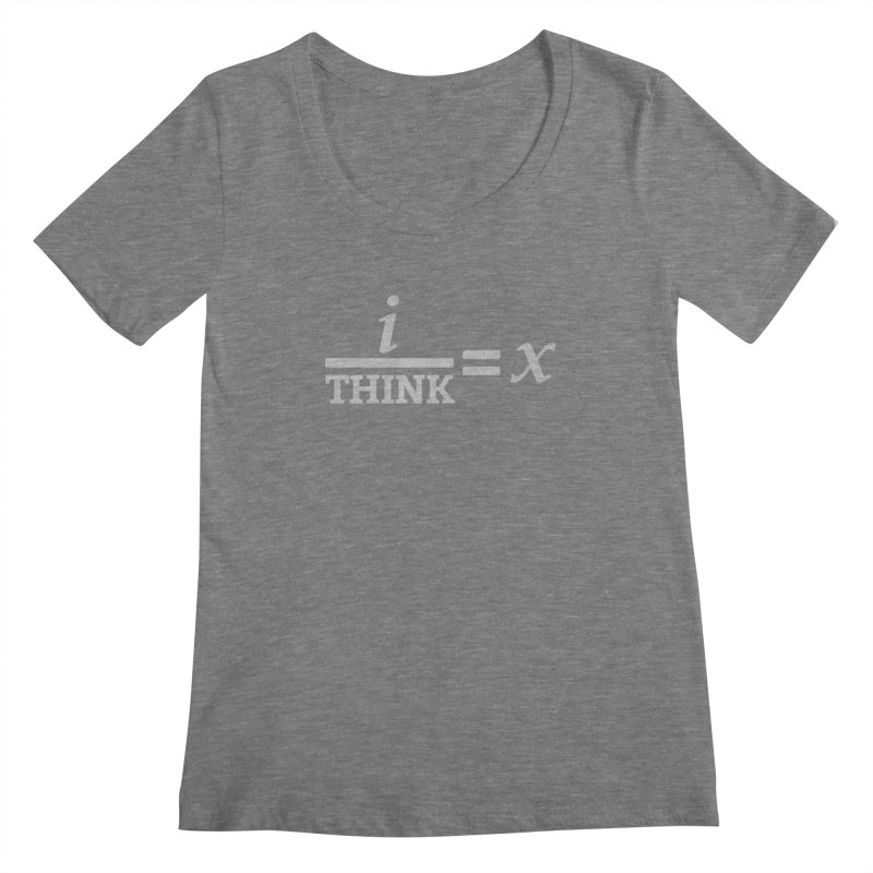 i/Think Women's Scoopneck by Fredtee's Artist Shop