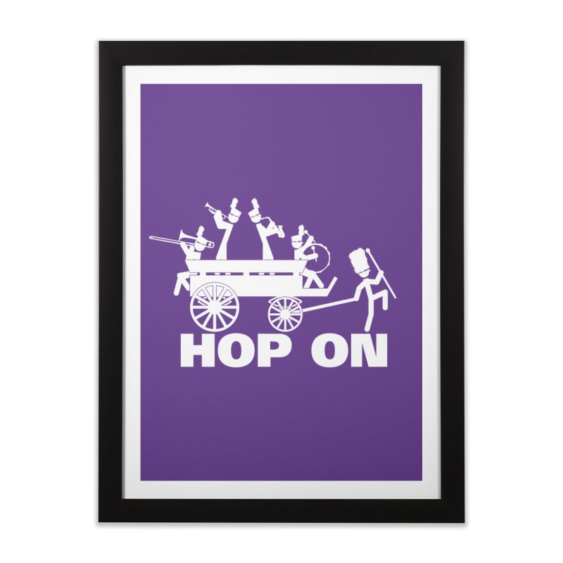 Band Wagon Home Framed Fine Art Print by Fredtee's Artist Shop