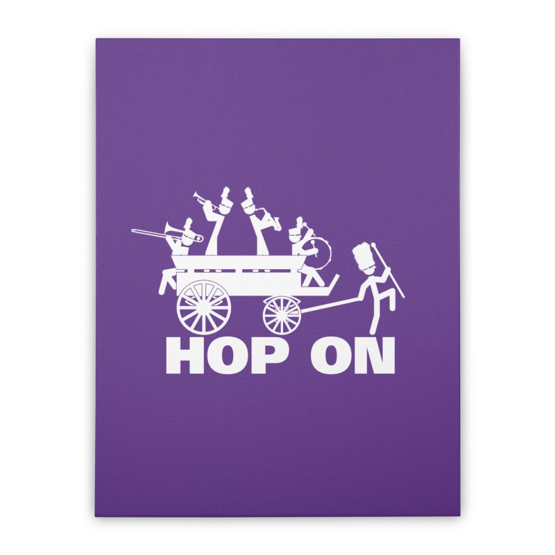 Band Wagon Home Stretched Canvas by Fredtee's Artist Shop